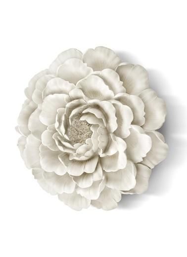 The Mia Duvar Dekoru Çiçek - 30 Cm Beyaz Beyaz